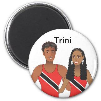 Trini Couple Refrigerator Magnets