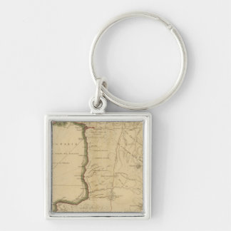 Trinidad 2 Silver-Colored square key ring