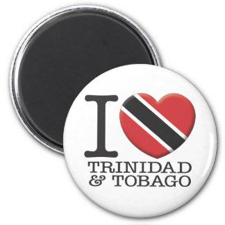 Trinidad and Tobago 6 Cm Round Magnet