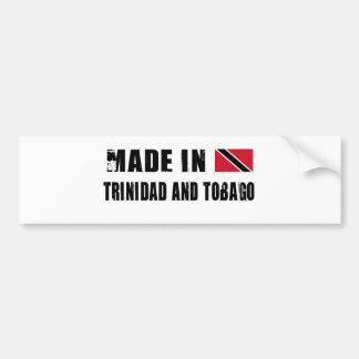 TRINIDAD AND TOBAGO BUMPER STICKER
