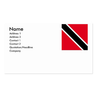 Trinidad and Tobago Business Card Template