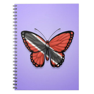 Trinidad and Tobago Butterfly Flag on Purple Notebook