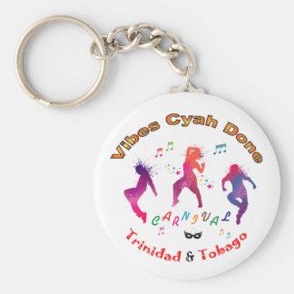 Trinidad and Tobago Carnival Basic Round Button Key Ring