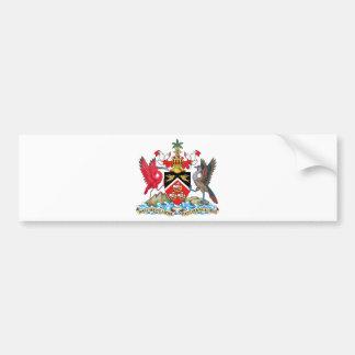 Trinidad and Tobago Coat of Arms Bumper Sticker