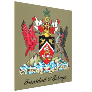 Trinidad and Tobago Coat Of Arms Gallery Wrapped Canvas
