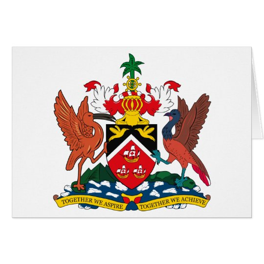 Trinidad And Tobago Coat of Arms Greeting Card