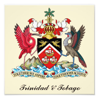 Trinidad and Tobago Coat Of Arms Photo Art