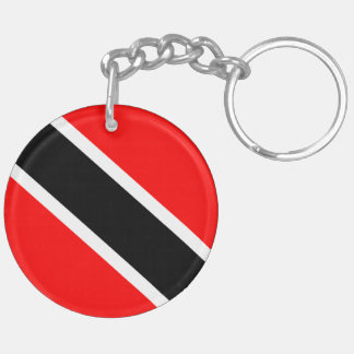 Trinidad and Tobago Double-Sided Round Acrylic Key Ring