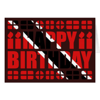 Trinidad and Tobago Flag Birthday Card