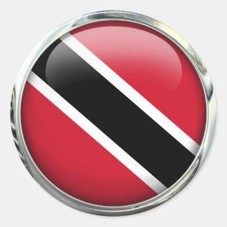 Trinidad And Tobago Flag Glass Ball Classic Round Sticker