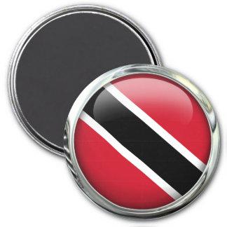 Trinidad And Tobago Flag Glass Ball Magnet