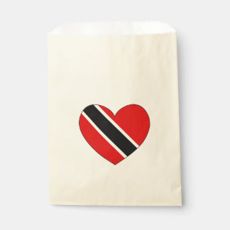 Trinidad and Tobago Flag Heart Favour Bags