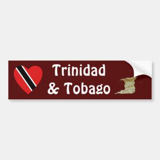 Trinidad and Tobago Flag Heart+ Map Bumper Sticker