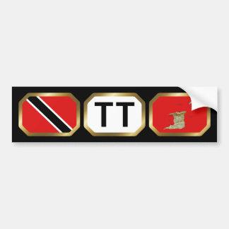 Trinidad and Tobago Flag Map Code Bumper Sticker