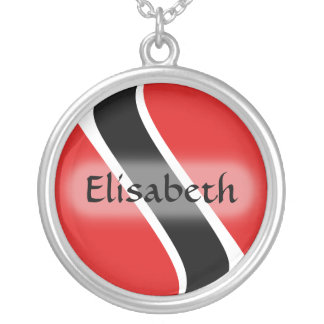 Trinidad and Tobago Flag + Name Necklace