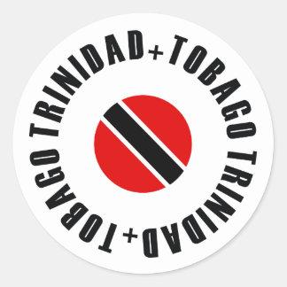 Trinidad and Tobago Flag Simple Classic Round Sticker