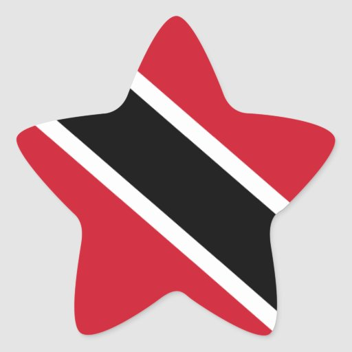 Trinidad and Tobago Flag Star Sticker