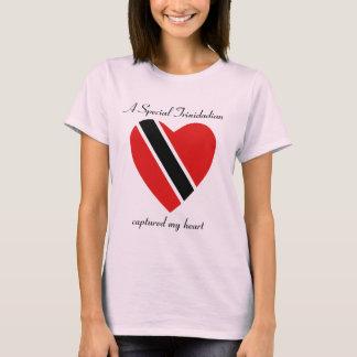 Trinidad and Tobago Flag Sweetheart T-Shirt
