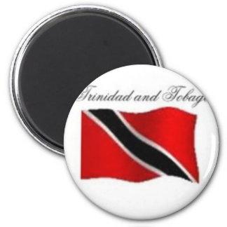 Trinidad And Tobago Flag T-shirt And Etc 6 Cm Round Magnet