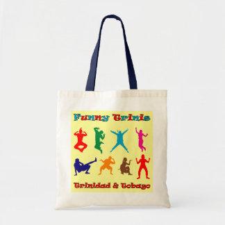 Trinidad and Tobago Funny Trini People Budget Tote Bag