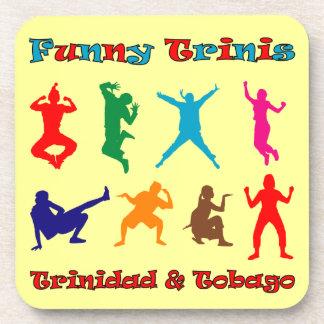 Trinidad and Tobago Funny Trinis Drink Coaster