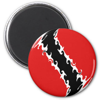 Trinidad and Tobago Gnarly Flag 6 Cm Round Magnet