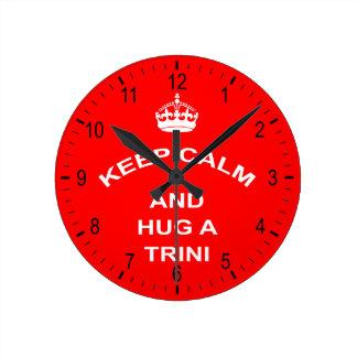 Trinidad and Tobago Keep Calm And Hug A Trini Clocks