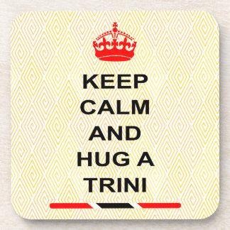 Trinidad and Tobago Keep Calm And Hug A Trini Beverage Coasters