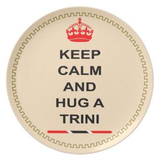 Trinidad and Tobago Keep Calm And Hug A Trini Party Plate