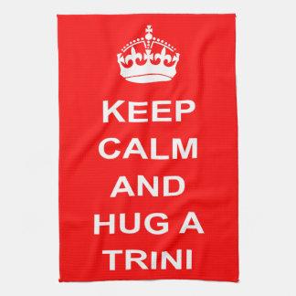 Trinidad and Tobago Keep Calm And Hug A Trini Hand Towel