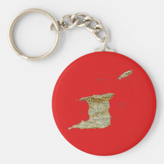 Trinidad and Tobago Map Keychain