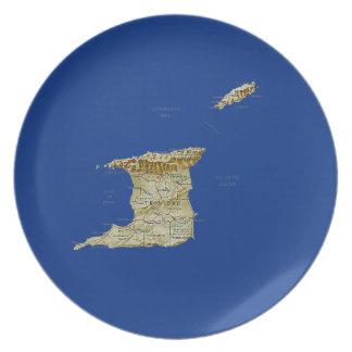 Trinidad and Tobago Map Plate