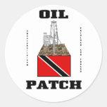 Trinidad And Tobago Oil Fields,Sticker,Oil,Gas Round Sticker