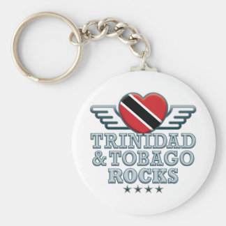 Trinidad and Tobago Rocks v2 Basic Round Button Key Ring