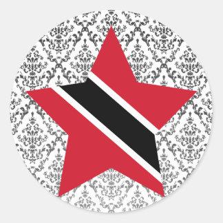 Trinidad+and+Tobago Star Classic Round Sticker