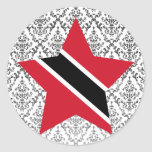 Trinidad+and+Tobago Star Round Sticker