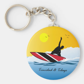 Trinidad and Tobago Toco Surfing Basic Round Button Key Ring