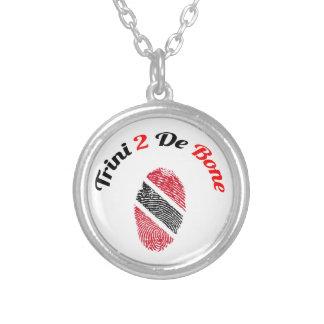 Trinidad and Tobago Trini 2 De Bone Round Pendant Necklace