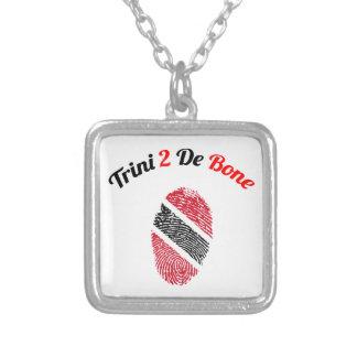 Trinidad and Tobago Trini 2 De Bone Square Pendant Necklace