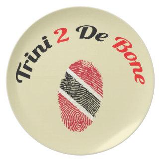 Trinidad and Tobago Trini 2 De Bone Party Plate