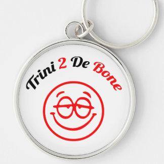 Trinidad and Tobago Trini To The Bone Silver-Colored Round Key Ring