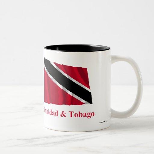 Trinidad and Tobago Waving Flag with Name Mug