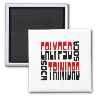 Trinidad Calypso Soca Cube Magnet