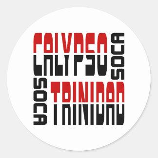 Trinidad Calypso Soca Cube Round Sticker