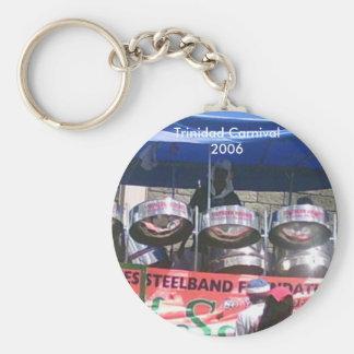 Trinidad Carnival 2006 Basic Round Button Key Ring