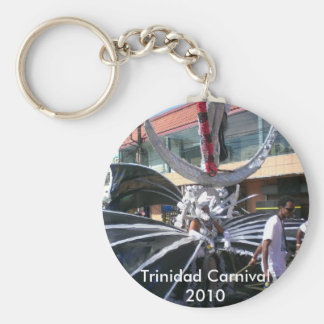 Trinidad Carnival 2010 Basic Round Button Key Ring