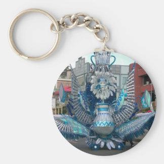 Trinidad Carnival Basic Round Button Key Ring