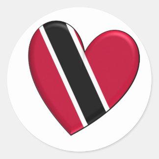 Trinidad Heart Flag Classic Round Sticker