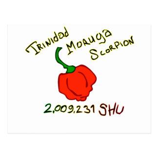 Trinidad Moruga Scorpion Chili w text Post Cards