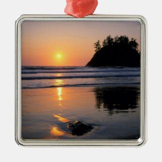 Trinidad State Beach, California. USA. Sea Silver-Colored Square Decoration